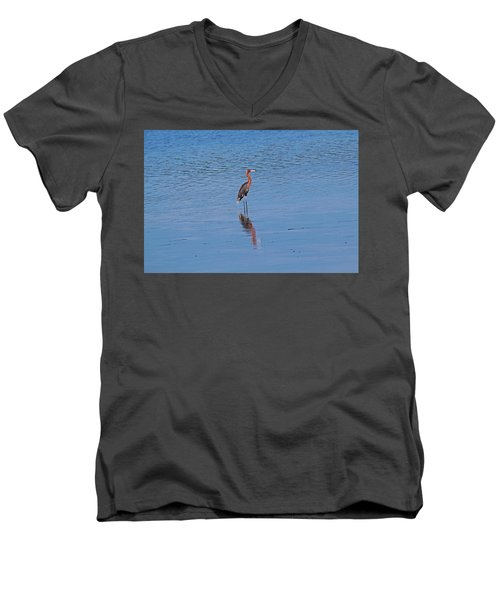 Men's V-Neck T-Shirt featuring the photograph Ding Darling's Number One by Michiale Schneider
