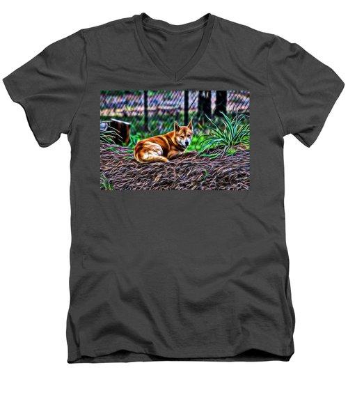 Dingo From Ozz Men's V-Neck T-Shirt