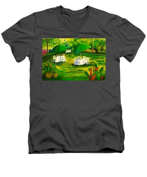 Dining In The Park Men's V-Neck T-Shirt