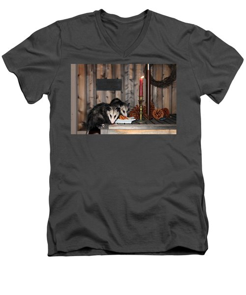 Dining Possums I Men's V-Neck T-Shirt