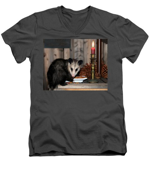 Dining Possums V Men's V-Neck T-Shirt