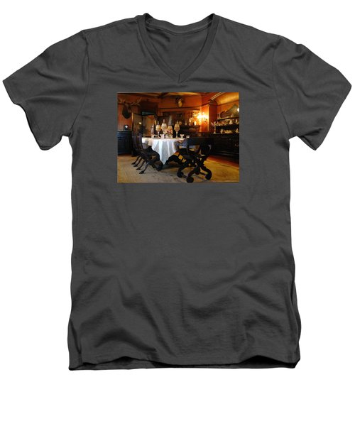 Dining Room Men's V-Neck T-Shirt by Mikki Cucuzzo