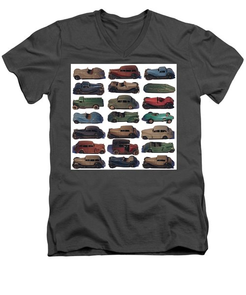 Dinky Car Park Men's V-Neck T-Shirt by John Colley