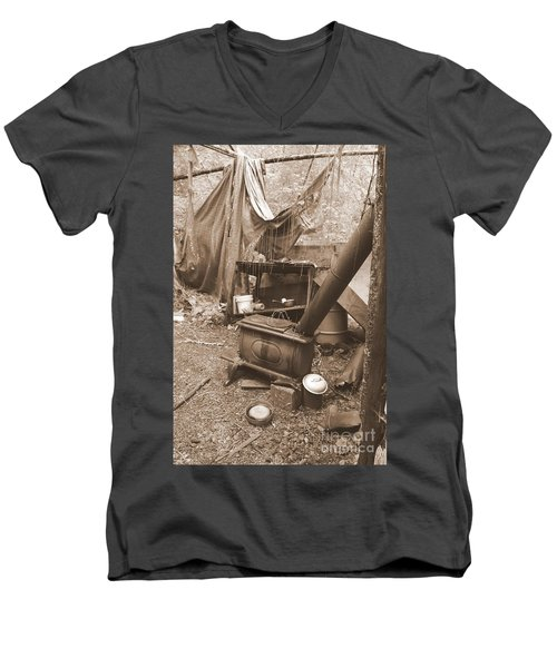 Men's V-Neck T-Shirt featuring the photograph Dinner Will Have To Wait by Marie Neder