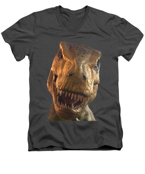 Dino Hello Men's V-Neck T-Shirt