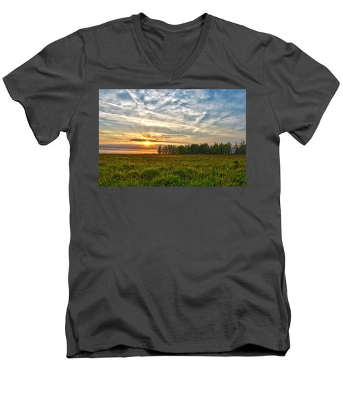 Dintelse Gorzen Sunset Men's V-Neck T-Shirt