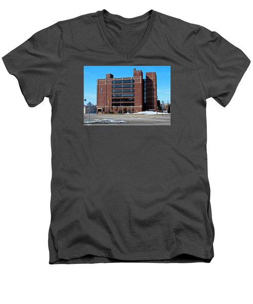 Men's V-Neck T-Shirt featuring the photograph Diocese Of Toledo In Winter by Michiale Schneider