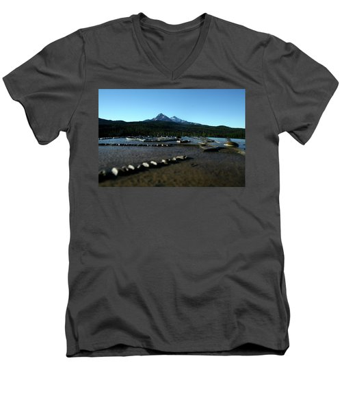 Men's V-Neck T-Shirt featuring the photograph Directional Points by Laddie Halupa
