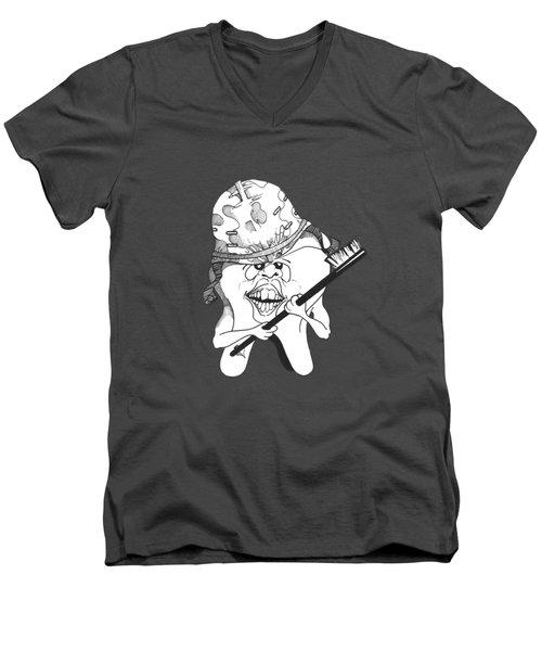 Dis Men's V-Neck T-Shirt by Julio Lopez