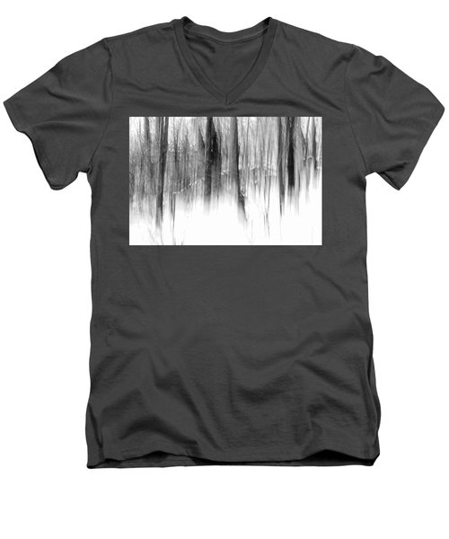Men's V-Neck T-Shirt featuring the photograph Disappearance by Steven Huszar