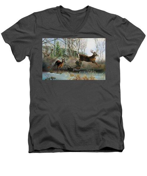 Disappearing Predator Men's V-Neck T-Shirt
