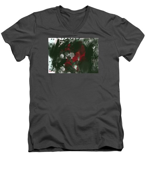 Men's V-Neck T-Shirt featuring the digital art Disappointment by Diana Riukas
