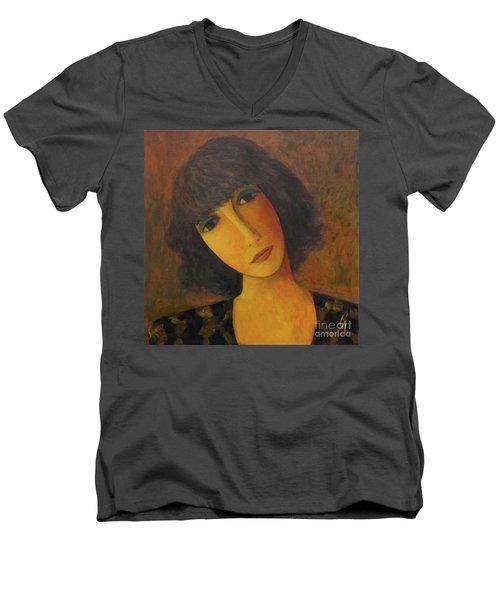 Disbelieving Men's V-Neck T-Shirt by Glenn Quist