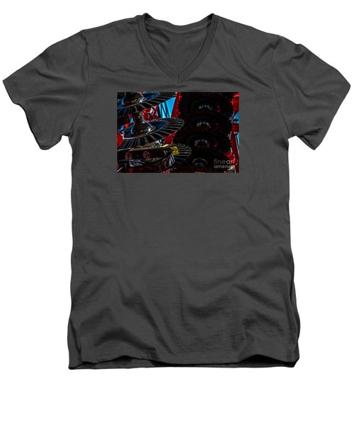 Men's V-Neck T-Shirt featuring the photograph Disc Drive by Trey Foerster