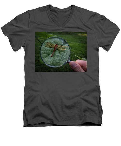 Men's V-Neck T-Shirt featuring the photograph Discovery by Mark Fuller
