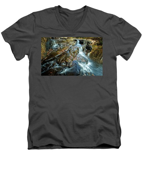 Dismal Creek Falls #2 Men's V-Neck T-Shirt