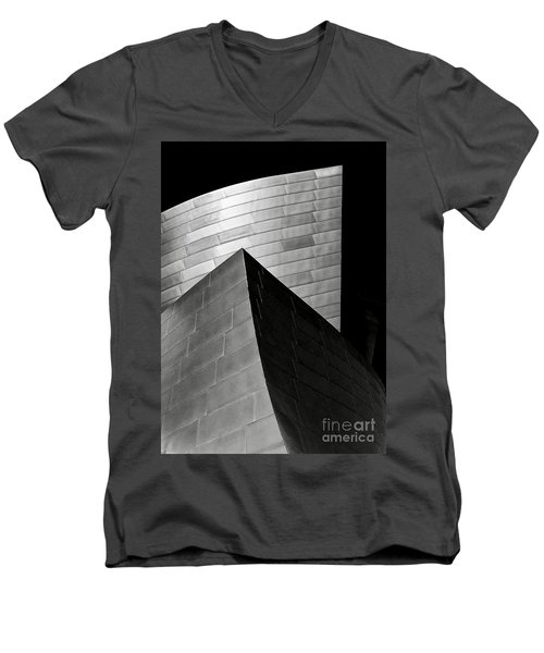 Disney Concert Hall Black And White Men's V-Neck T-Shirt