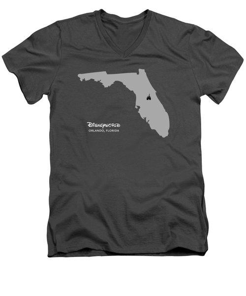 Disneyworld Men's V-Neck T-Shirt