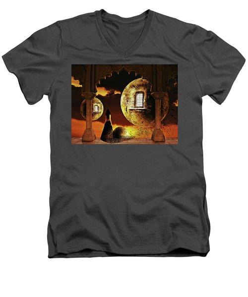 Dispersion Dream Men's V-Neck T-Shirt by Mihaela Pater