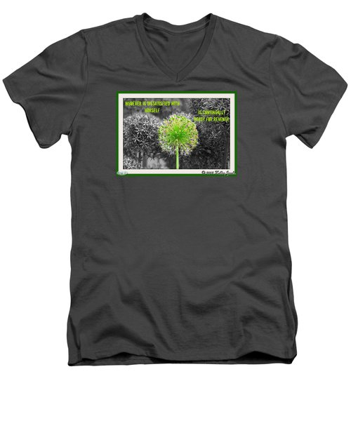 Dissatisfied With Himself Men's V-Neck T-Shirt by Holley Jacobs