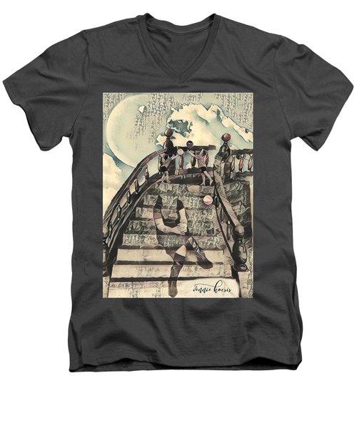 Dissociated Mother Men's V-Neck T-Shirt by Vennie Kocsis