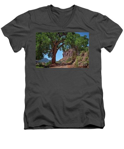 Distant Escalante Moon Men's V-Neck T-Shirt by Janice Rae Pariza