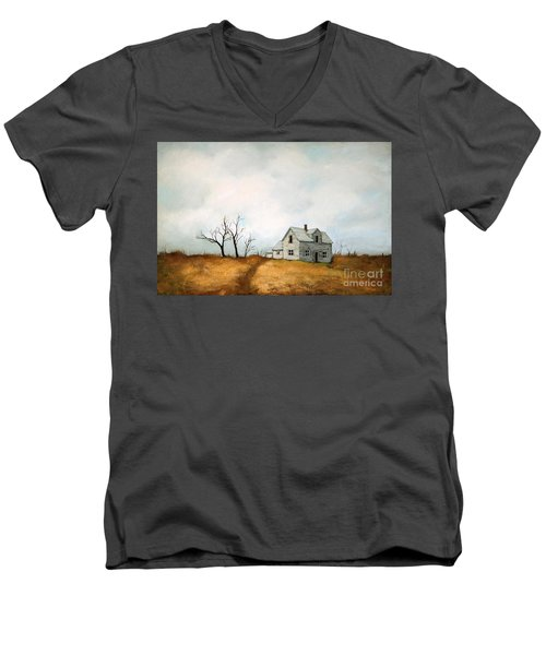 Distant Men's V-Neck T-Shirt by Inese Poga