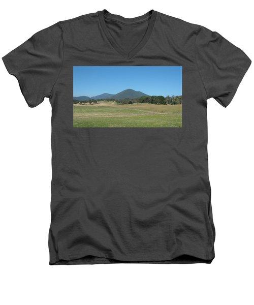 Distant Moutains Men's V-Neck T-Shirt