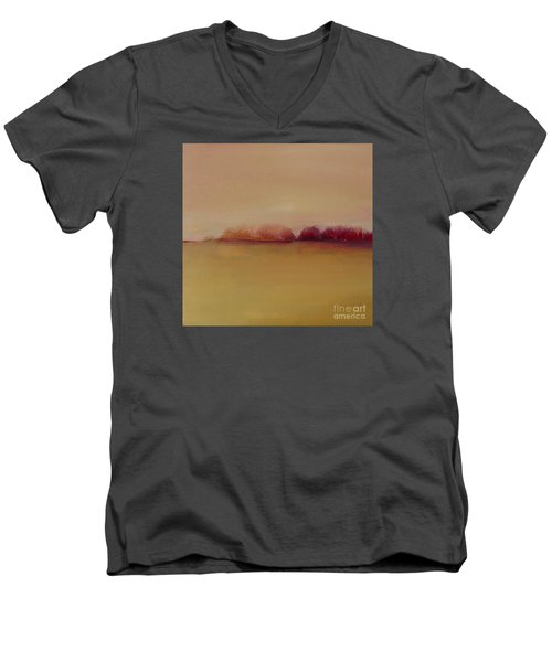 Distant Red Trees Men's V-Neck T-Shirt