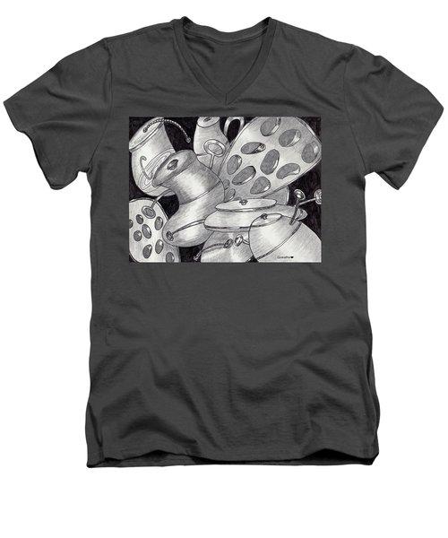 Distorted Images Men's V-Neck T-Shirt
