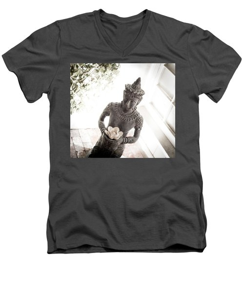 Divine Back Light Men's V-Neck T-Shirt