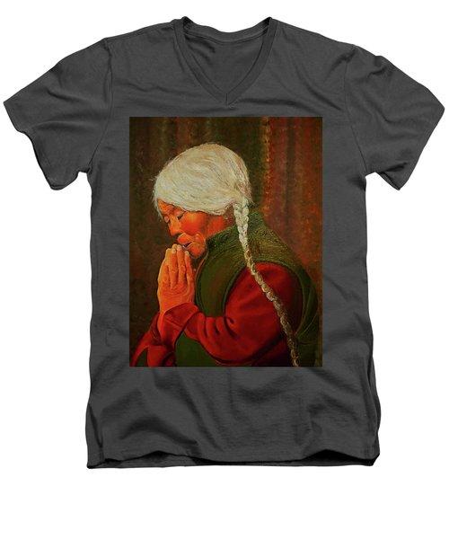 Divine Power Of Prayer Men's V-Neck T-Shirt