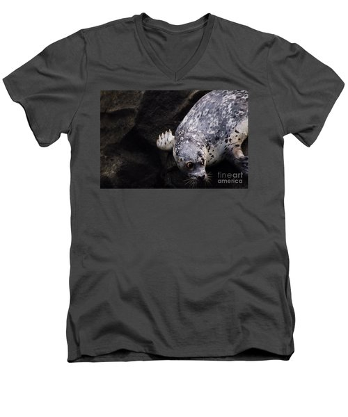 Men's V-Neck T-Shirt featuring the photograph Diving In Head First by Nick Gustafson