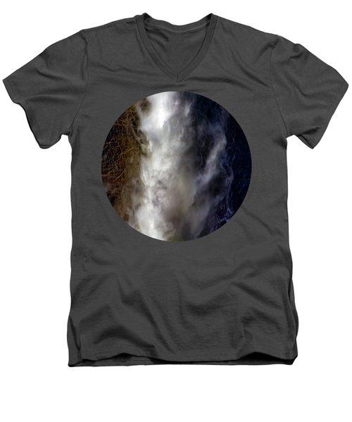 Division Men's V-Neck T-Shirt by Adam Morsa