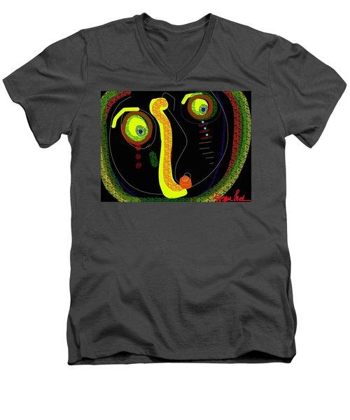 Dizzy Gillespie Cheek To Cheek Men's V-Neck T-Shirt