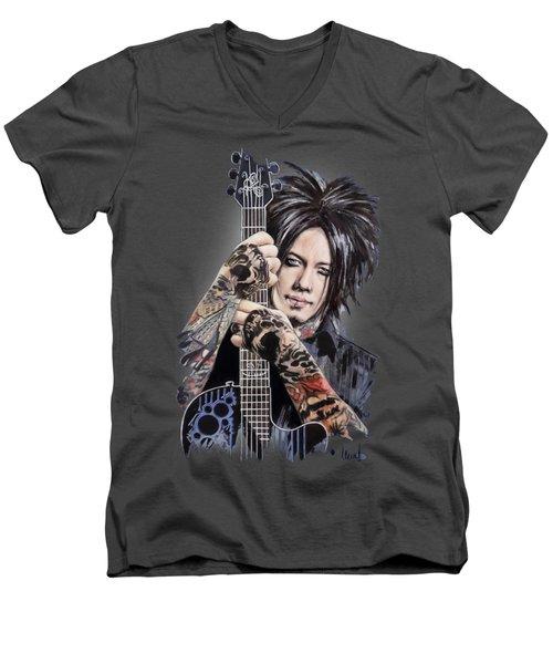 Dj Ashba Men's V-Neck T-Shirt