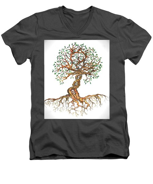 Dna Tree Of Life Men's V-Neck T-Shirt