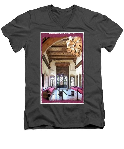 Do-00448 Reception Room At Beiteddine Men's V-Neck T-Shirt
