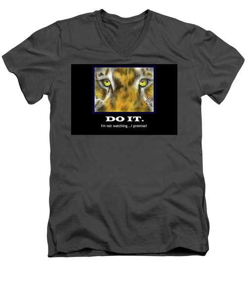 Do It Motivational Men's V-Neck T-Shirt by Darren Cannell