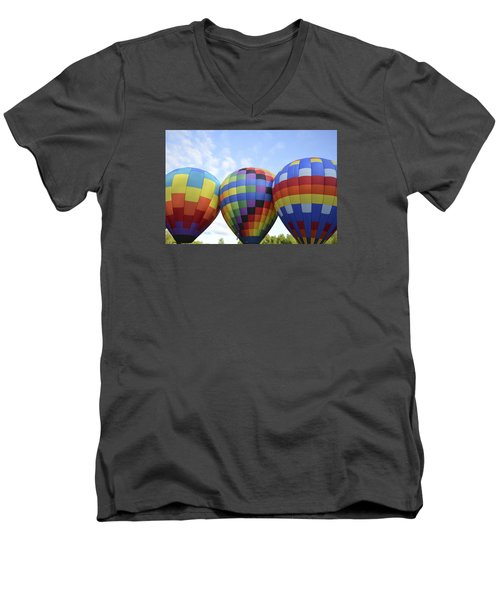 Men's V-Neck T-Shirt featuring the photograph Do We Chance It? by Linda Geiger
