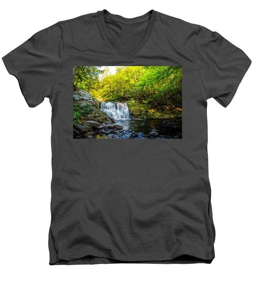 Doans Falls Lower Falls Men's V-Neck T-Shirt