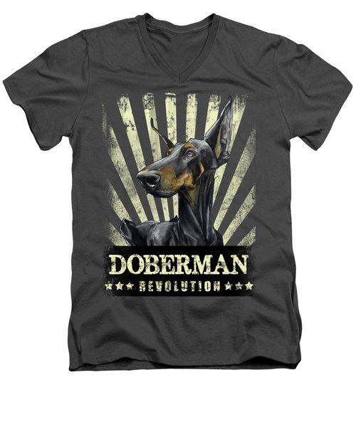 Doberman Revolution Men's V-Neck T-Shirt
