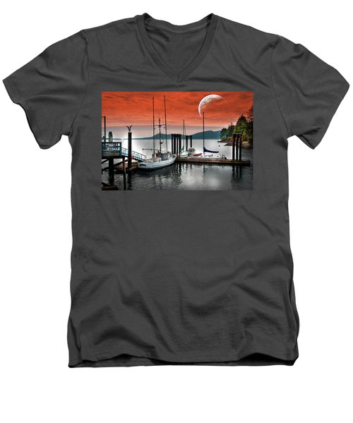 Dock And The Moon Men's V-Neck T-Shirt