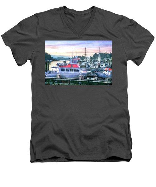 Dock Of The Bay Men's V-Neck T-Shirt