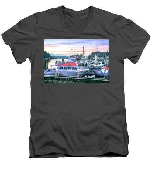 Dock Of The Bay Men's V-Neck T-Shirt