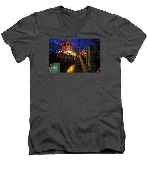 Dock Side Men's V-Neck T-Shirt