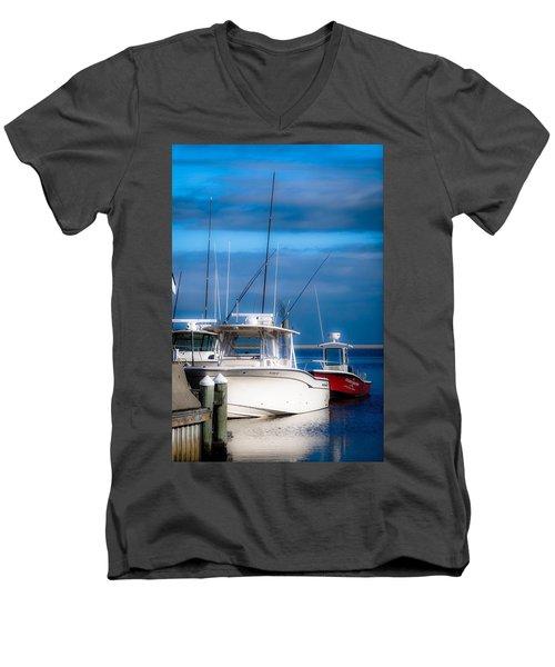 Docked And Quiet Men's V-Neck T-Shirt