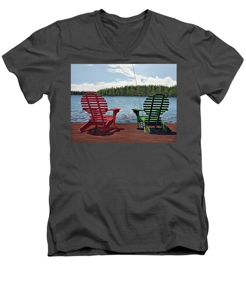 Dockside Men's V-Neck T-Shirt