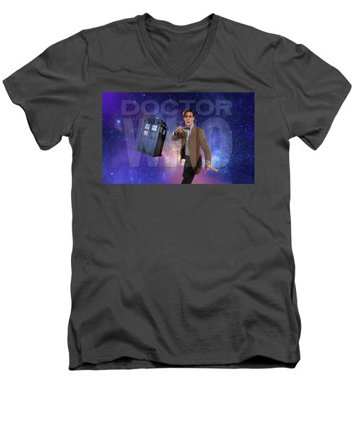 Doctor Who Men's V-Neck T-Shirt by Pat Cook