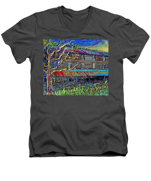 Dodds Creek Mill, ,floyd Virginia Men's V-Neck T-Shirt